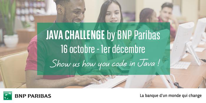 Banner Java Challenge by BNP Paribas