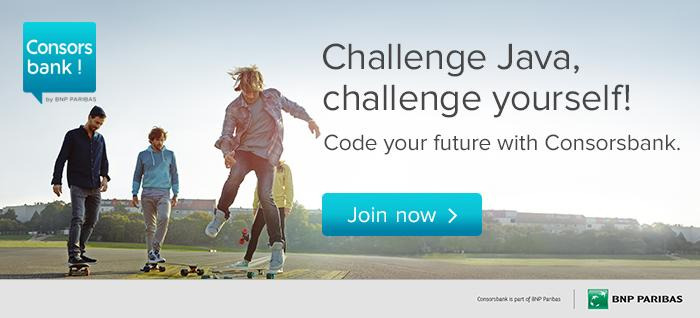 Banner Java Challenge Germany 2018 by Consorbank