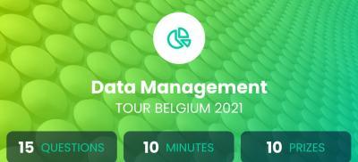 Banner Data Management Tour Belgium 2021
